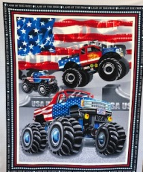 American Truckers quilt panel from Henry Glass